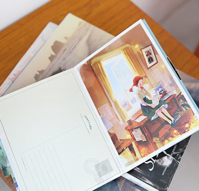 postcard book Kim ji hyuck Daddy Long Legs Anne of Green Gables [Daddy Long Legs postcard, Anne of Green Gables postcards, kim ji hyuck postcards]