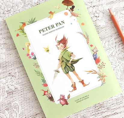 peter pan diaries [diaries peter pan, stationery peter pan, peter pan diary]