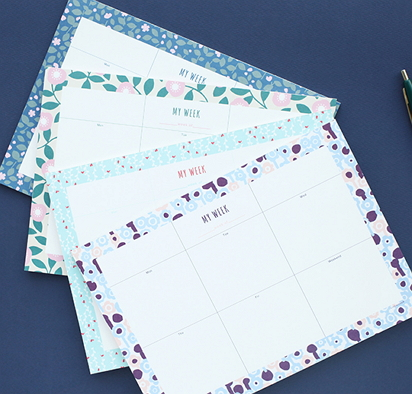 weekly desk pad [weekly desk pad, patterned weekly desk pad, weekly desk planner]