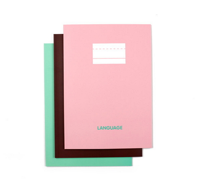 language notebooks exercise books [notebooks languge study, exercise book foreign language, exercise book study]