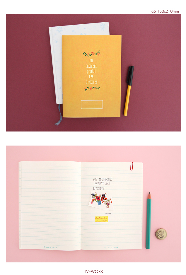 Livework's vintage rose notebook [vintage notebooks, french notebooks, unique notebooks]