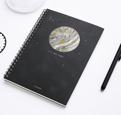 space notebooks stationery [space stationery, space notebooks, milky way notebook]