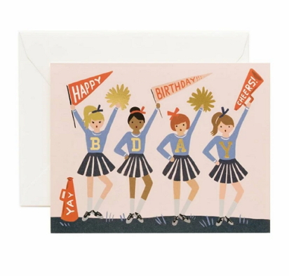 cheerleading birthday card [rifle paper co, cheerleading card, cheerleading birthday card]