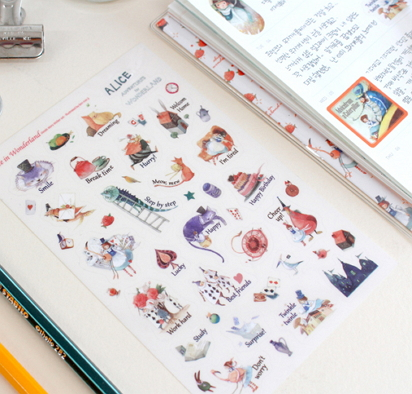 indigo story alice in wonderland stickers [alice in wonderland, the alice in wonderland stickers, alice in wonderland stationery]