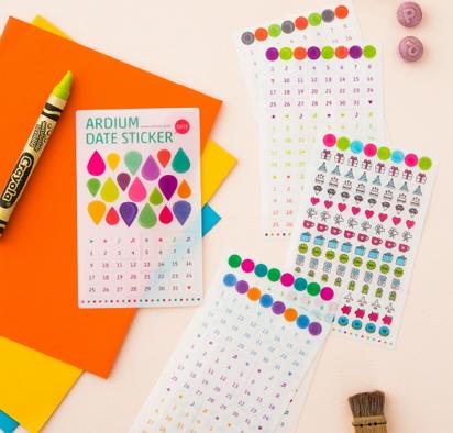 date calendar diary stickers [calendar stickers, date stickers, diary stickers]