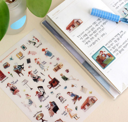 indigo story daddy long legs stickers [daddy long legs, daddy long legs stickers, daddy long legs stationery]