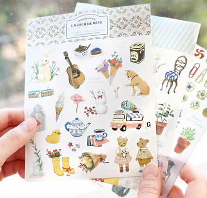 cute stickers diary [cute stationery, cute stickers, diary stickers]