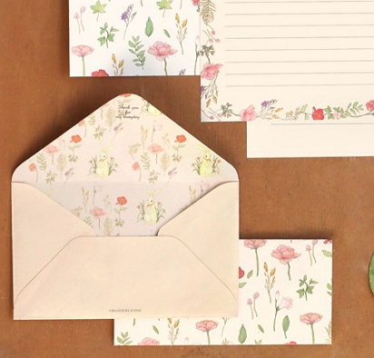 floral writing paper [writing paper, flower writing paper, floral paper]