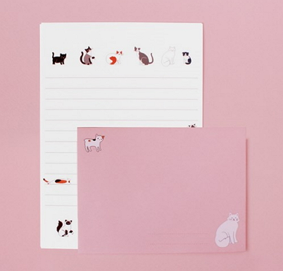 cat writing paper [writing paper, cat writing paper, cat stationery]