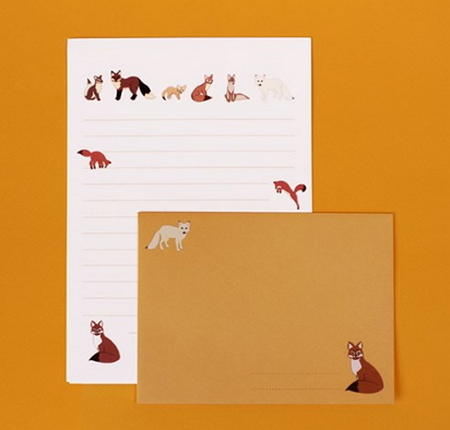 fox writing paper [writing paper, fox stationery, fox writing paper]