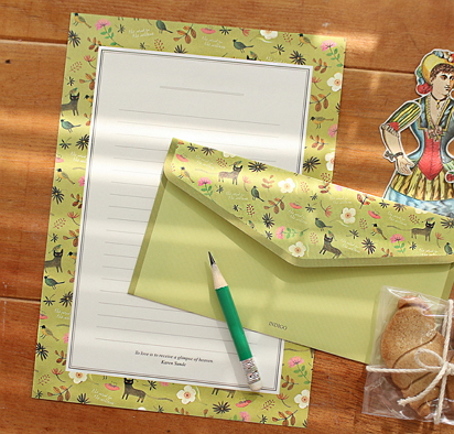 pretty writing paper [writing paper, pretty writing paper, pretty letter paper]